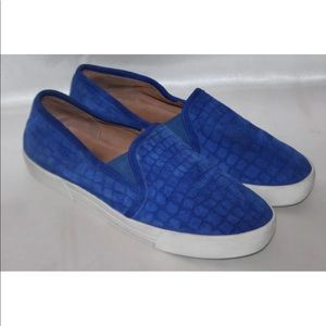 Joie Royal blue suede loafers sneakers